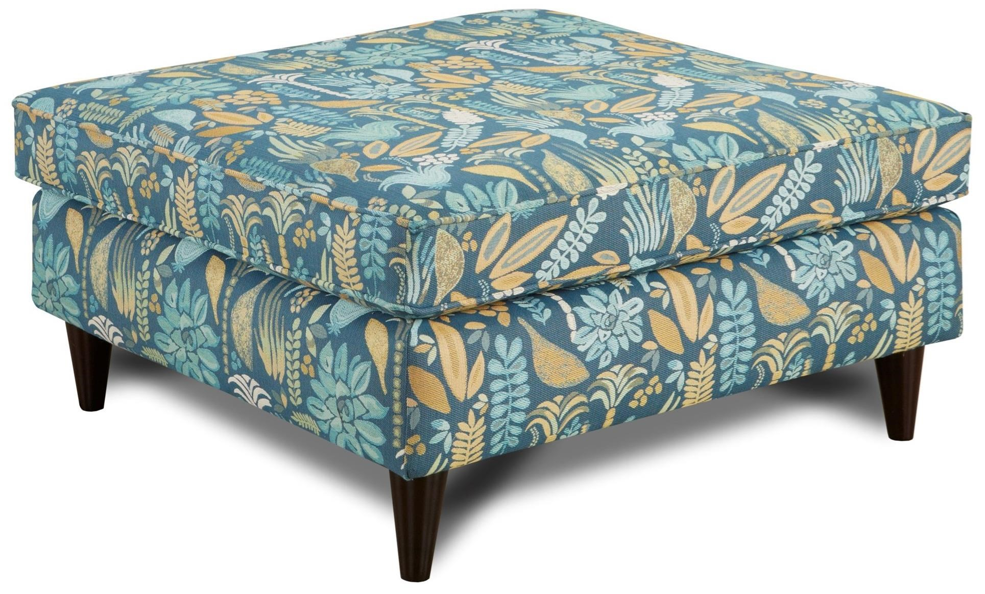 Fusion Furniture 170 Ottoman - Item Number: 170JB Rainforest Calypso