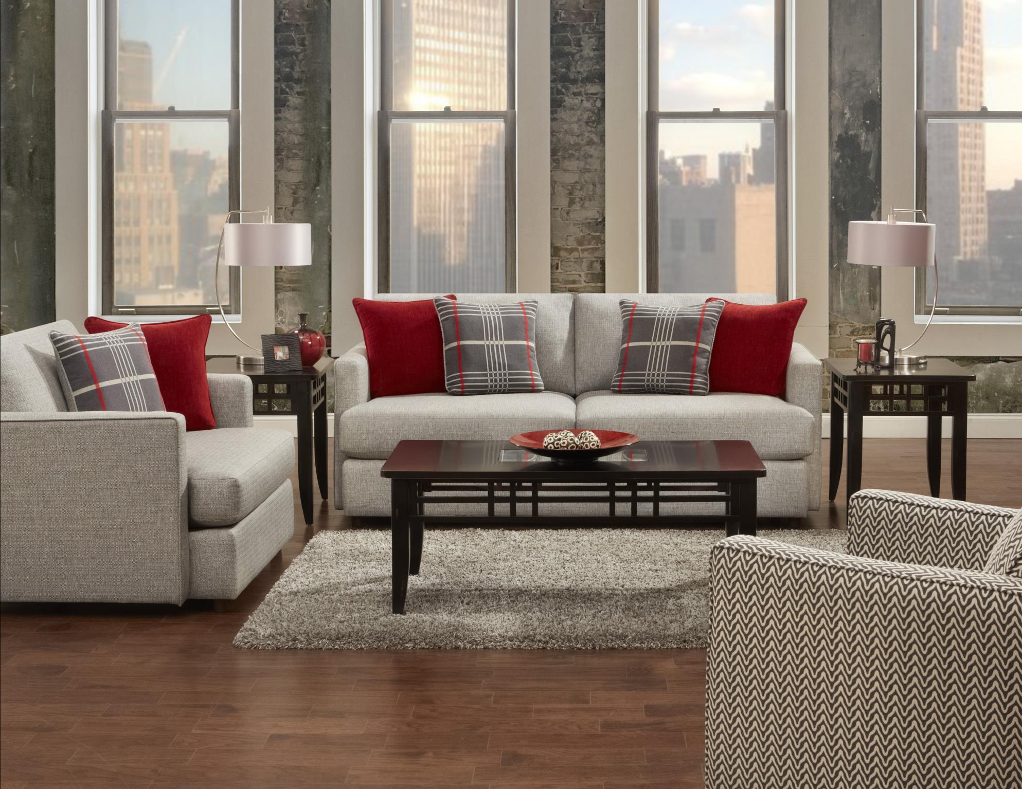 Fusion Furniture Greenwich Stationary Living Room Group - Item Number: 1800 Living Room Group 1