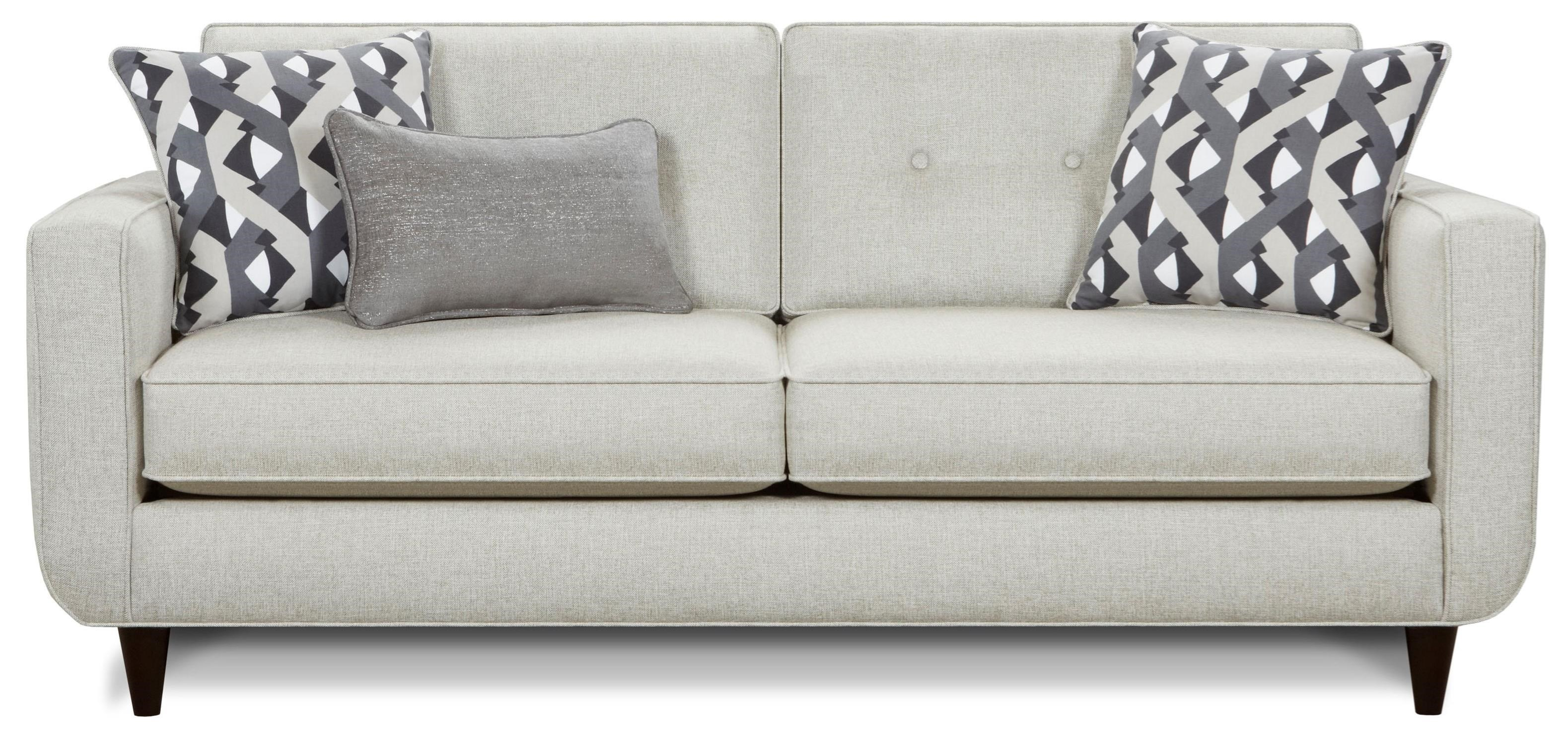 Fusion Furniture 1850 Sofa - Item Number: 1850-KPGrande Linen