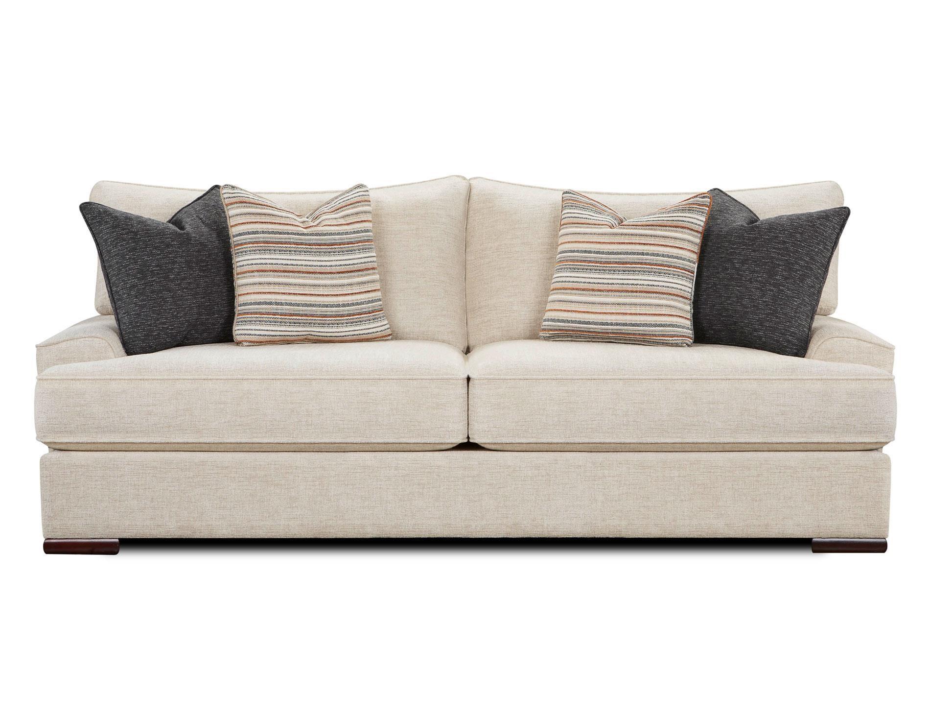 Fusion Furniture Bradley-Cream Sofa - Item Number: 2010-BRADLEY-CREAM