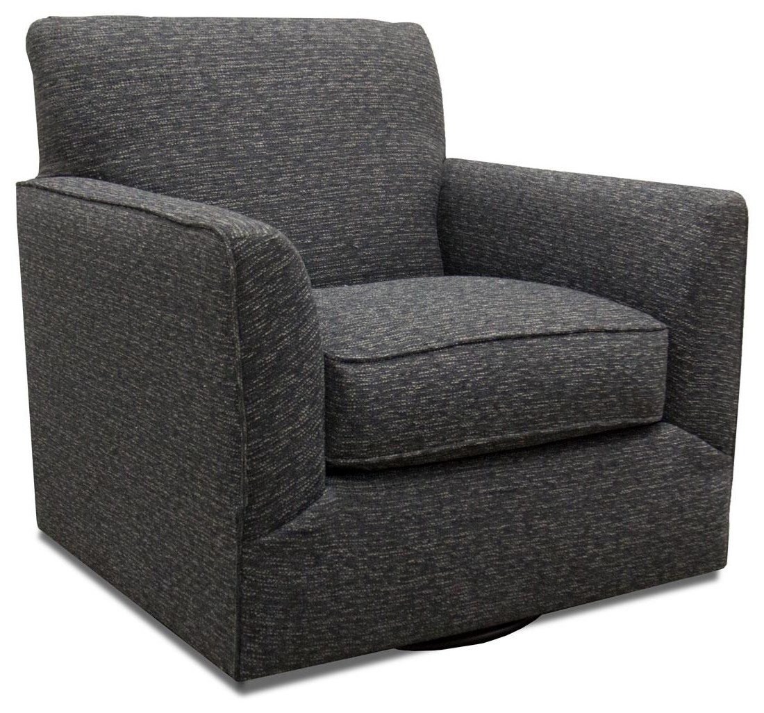 Fusion Furniture Bradley-Cream Branco Charcoal Swivel Chair - Item Number: 422-S-BRANCO-CHARCOAL