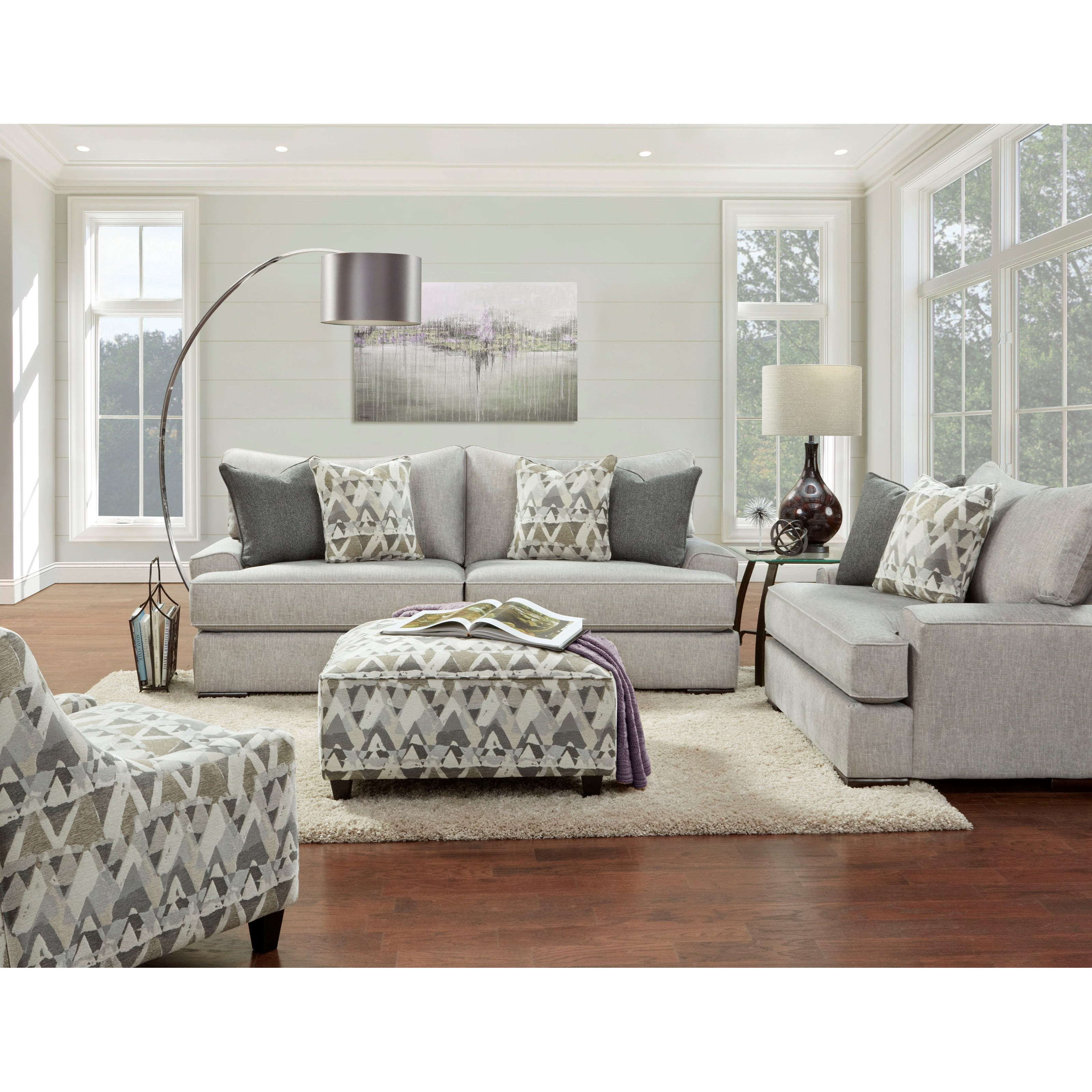 2010 Stationary Living Room Group by FN at Lindy's Furniture Company