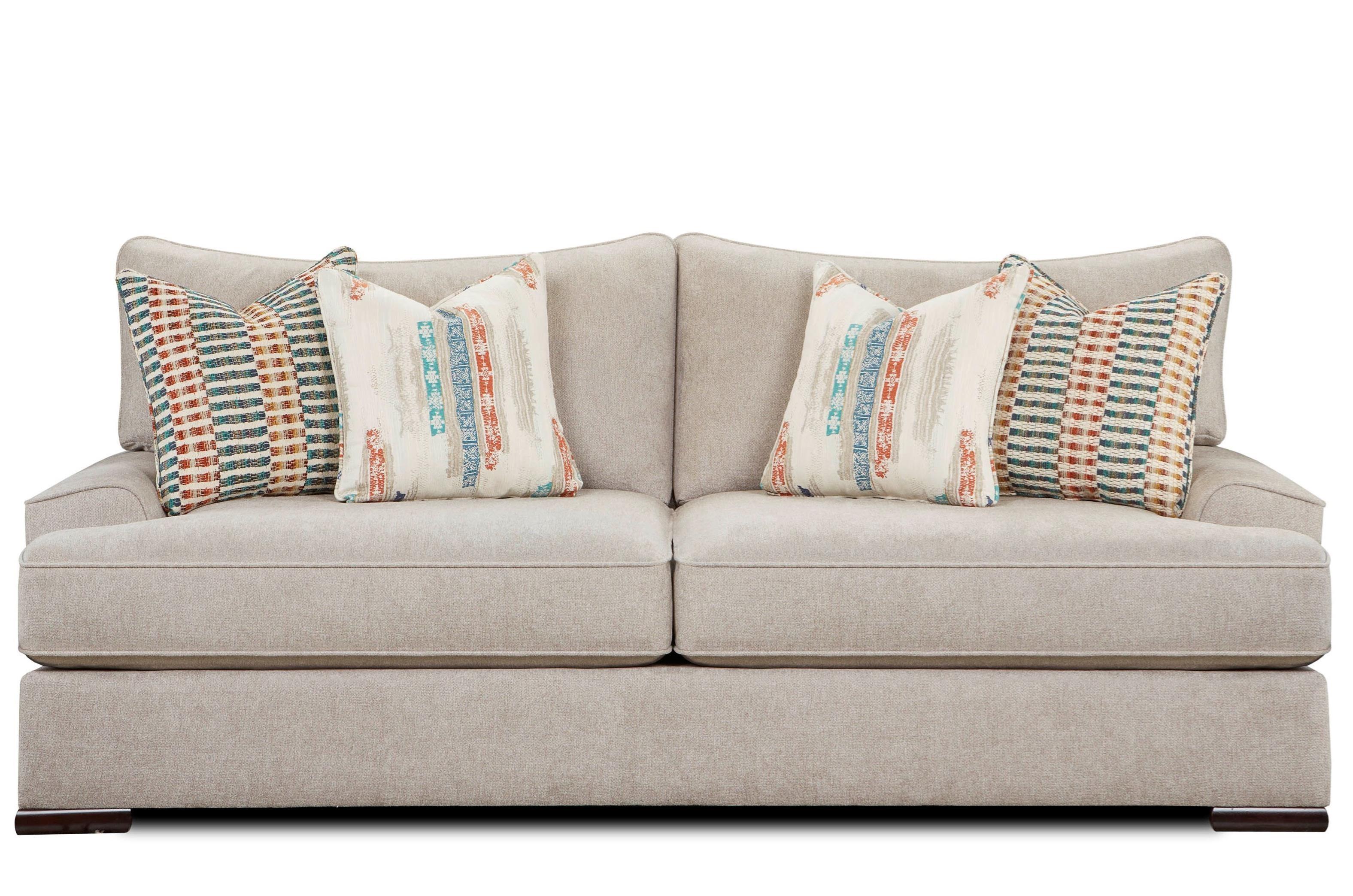Fusion Furniture 2010 Sofa - Item Number: 2010Yogi Silver