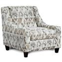 Fusion Furniture Tyler Accent Chair - Item Number: 552Mountain View Cement-CROWLEY