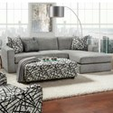 Fusion Furniture 2051 2-Piece Sectional - Item Number: 2051-21LBradley Pewter+26RBradley P