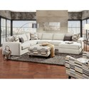 Fusion Furniture 2051 4 Piece Sectional with Chaise