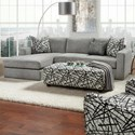 Fusion Furniture 2051 2-Piece Sectional - Item Number: 2051-26L+21RBradley Pewter