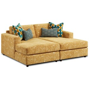 Pit Sectional with Side by Side Chaises