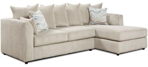 Fusion Furniture 2053 Two Piece Chaise sectional - Item Number: 2053 Living Room Group 1