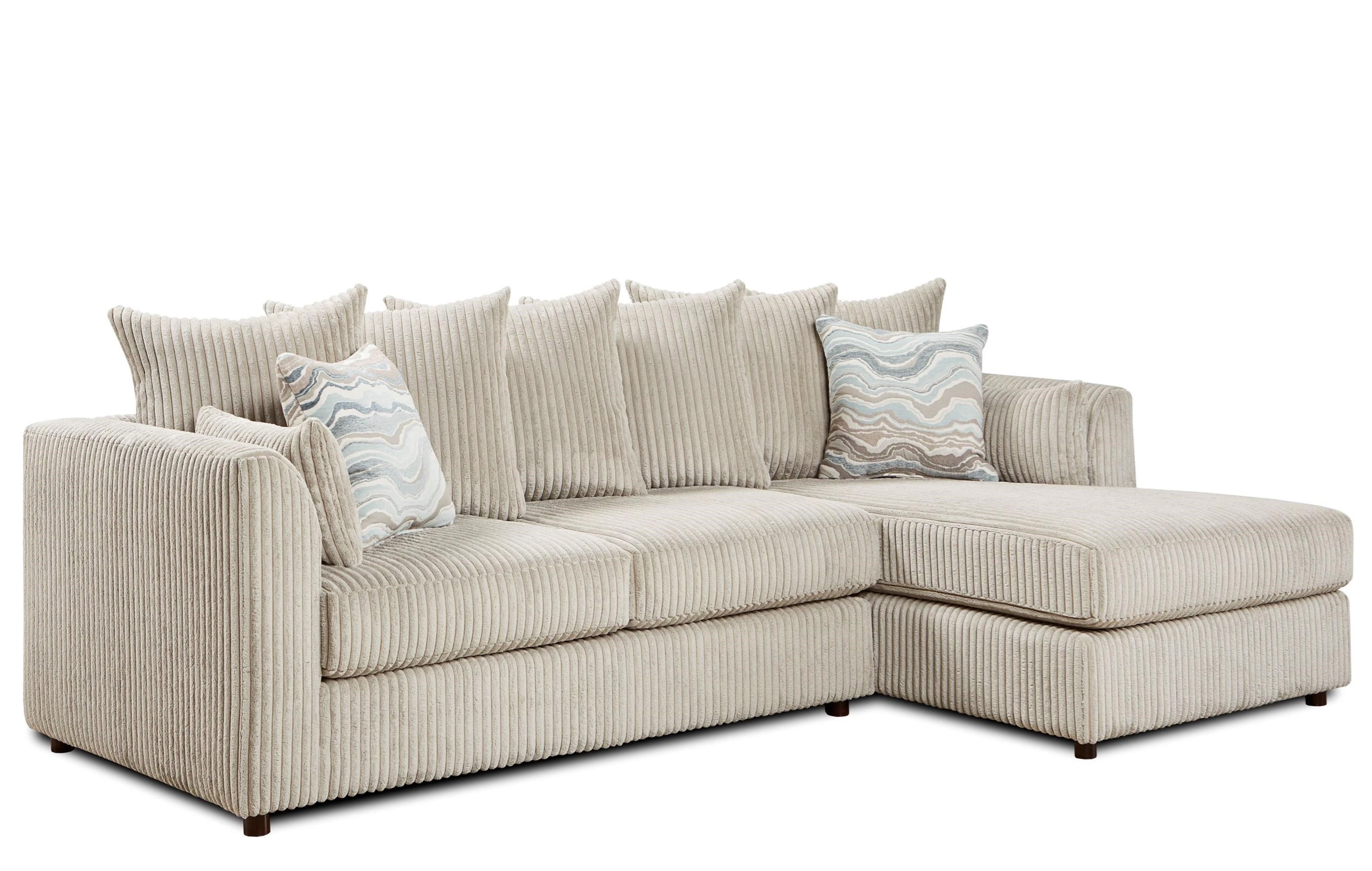 Fusion Furniture 2053 2 Piece Sectional - Item Number: 2053-21LBillow Dove+26RBillow Dove