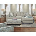 Fusion Furniture 2053 2 Piece Sectional with Chaise
