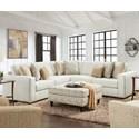 Fusion Furniture 2061 3-Piece L-Shape Sectional - Item Number: 2061-21L-KPInvitation Linen+15+21R-