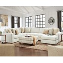 Fusion Furniture 2061 4-Piece Sectional with Chaise - Item Number: 2061-21LInvitation Linen+15+29+26R