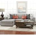 Fusion Furniture 2061 2-Piece Sofa Chaise - Item Number: 2061-26L-KPMonroe Ash+21R