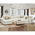 Fusion Furniture 2061 4-Piece Sectional with Chaise - Item Number: 2061-26LInvitation Linen+29+15+21R