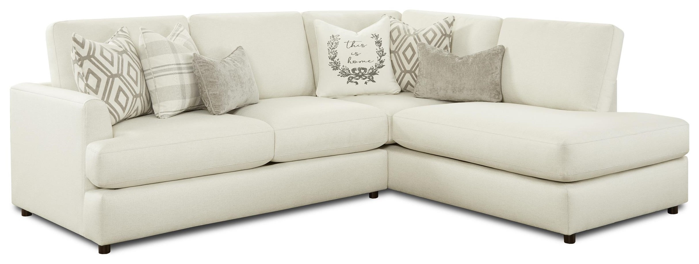 23-00 Two Piece Sectional - LAF sofa RAF Chaise by Kent Home Furnishings at Johnny Janosik