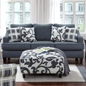 Fusion Furniture 2330 Sofa - Item Number: 2330Truth Or Dare Navy