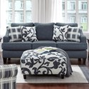 Fusion Furniture 2330 Sleeper Sofa - Item Number: 2334Truth Or Dare Navy