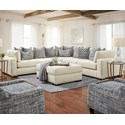 FN 24-00 L-Shape Sectional - Item Number: 24-15Raymour Naturalx3+2x24-19