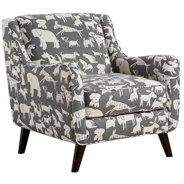 Fusion Furniture 240 Mid Century Modern Accent Chair With