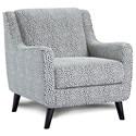 Fusion Furniture 4200-KP SHADOWFAX DOVE (REVOLUTION) Chair - Item Number: 240Faux Skin Carbon