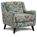 Fusion Furniture 240 Chair - Item Number: 240Kanga Flowers Jasper
