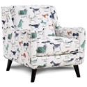 Fusion Furniture 240 Chair - Item Number: 240Puppy Parade Mint