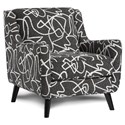 Fusion Furniture 240 Chair - Item Number: 240Scribble Tuxedo