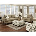 Fusion Furniture 2400 Stationary Sofa w/ Accent Pillows