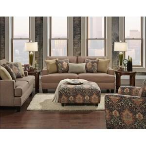 Fusion Furniture Monroe Stationary Living Room Group