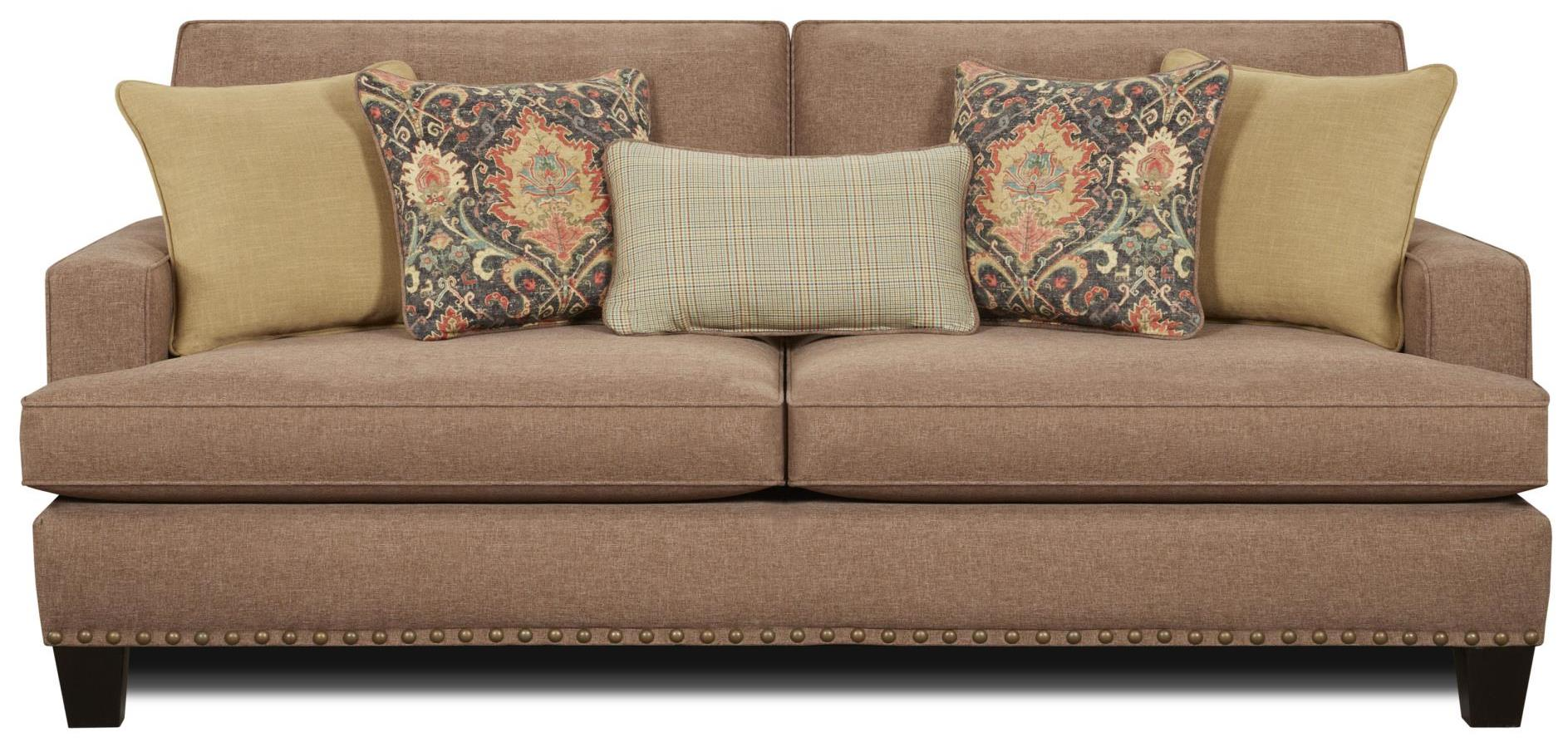 Fusion Furniture Monroe Sofa - Item Number: 2470-KPMaxwell Pecan