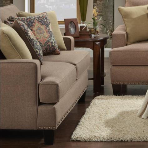 Fusion Furniture Monroe Loveseat - Item Number: 2471Maxwell Pecan