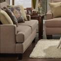 Fusion Furniture 2470 Loveseat - Item Number: 2471Maxwell Pecan