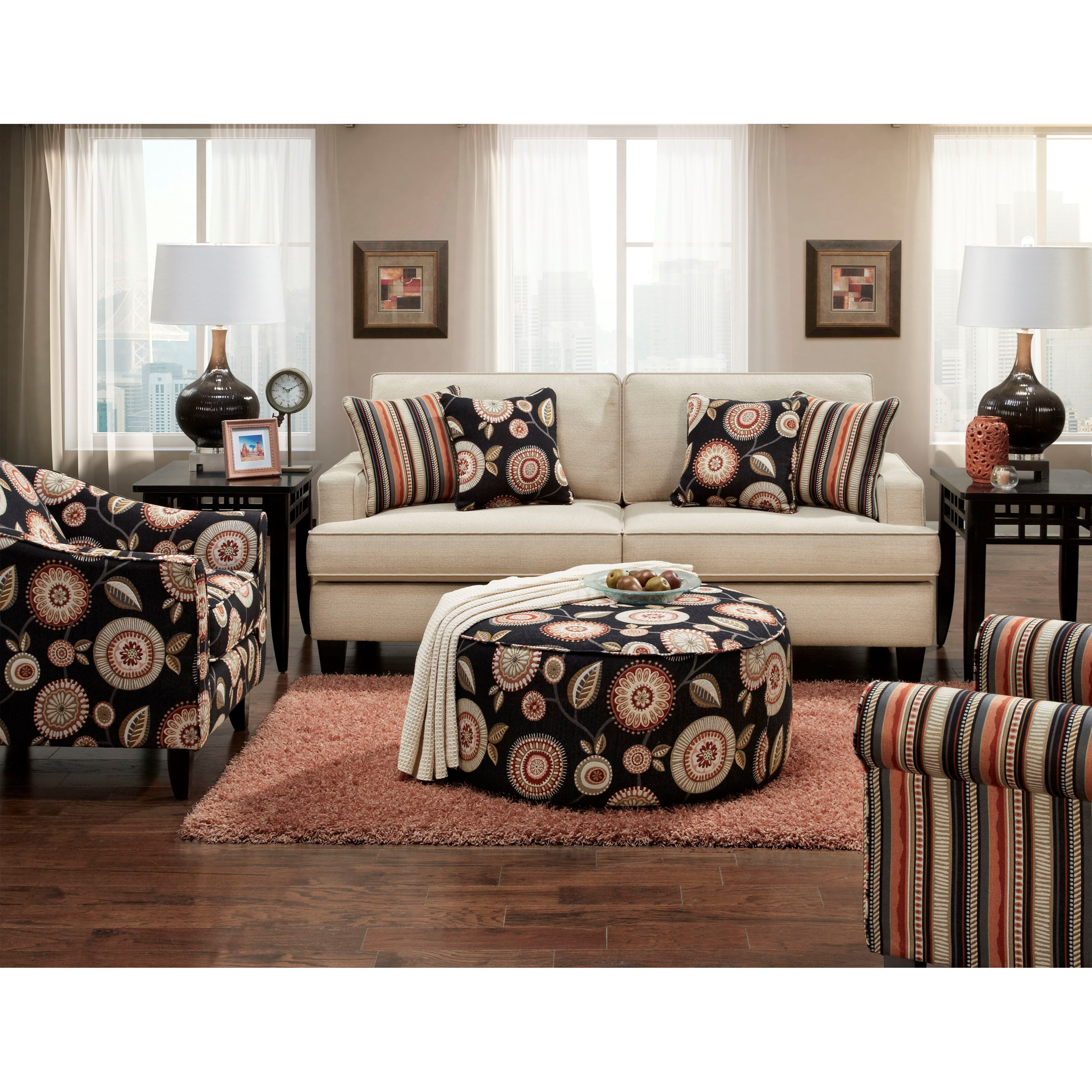 Fusion Furniture 2490 Stationary Living Room Group - Item Number: 2490 Living Room Group 3