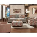 Fusion Furniture 2490 Stationary Living Room Group - Item Number: 2490 Living Room Group 4