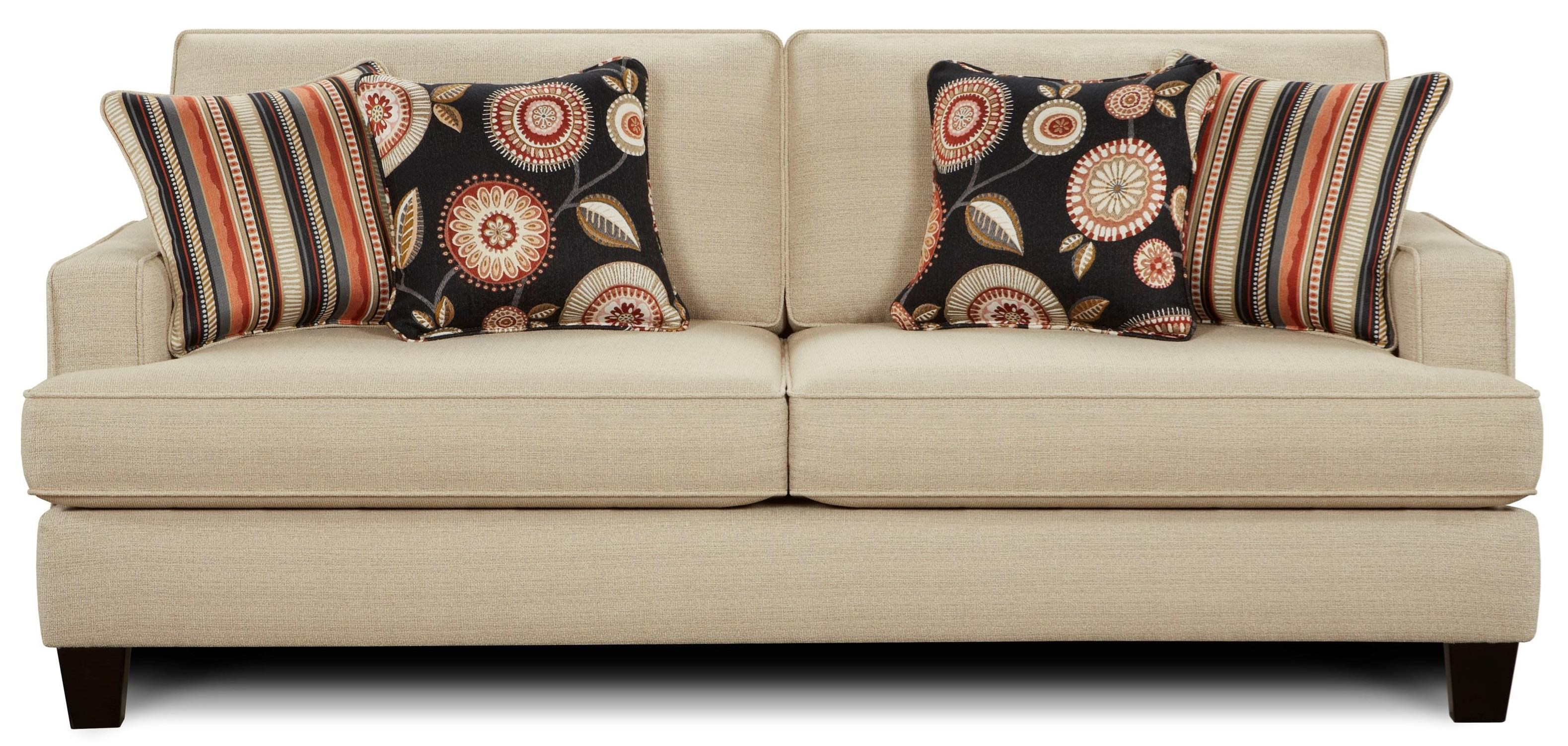 Fusion Furniture 2490 Stationary Sofa - Item Number: 2490New Siam Parchment