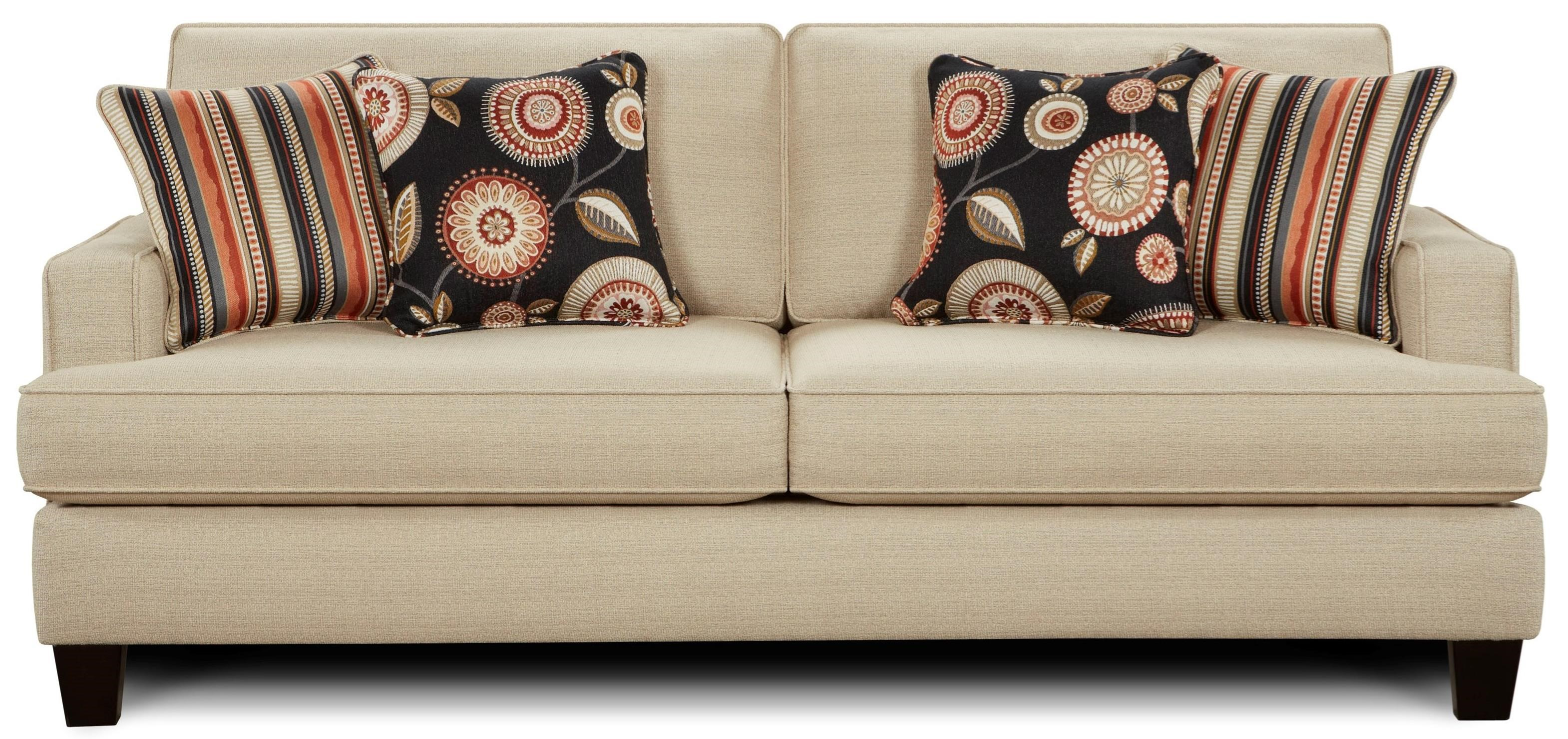 Fusion Furniture 2490 Sleeper Sofa - Item Number: 2494New Siam Parchment