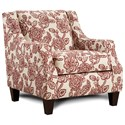 Fusion Furniture 250 Chair - Item Number: 250Antoinette Crimson