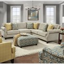 VFM Signature 2530 4-Seat Sectional Sofa - Item Number: 2531-21L+15+21RZealand Cobblestone