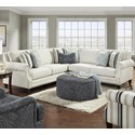 VFM Signature 2530 4-Seat Sectional Sofa - Item Number: 2531-21L+15-KP+21RSweater Bone