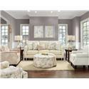 Fusion Furniture 2532-00 Living Room - Item Number: 2532 ZEN BUTTER LIVING ROOM