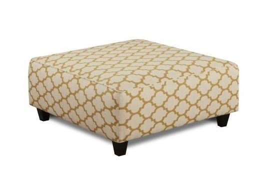 Fusion Furniture Maxwell Gray Cash Citrine Cocktail Ottoman - Item Number: 109