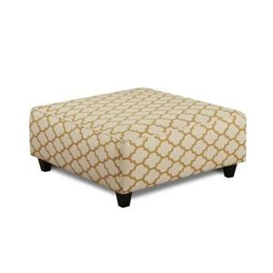 Fusion Furniture Maxwell Gray Cash Citrine Cocktail Ottoman