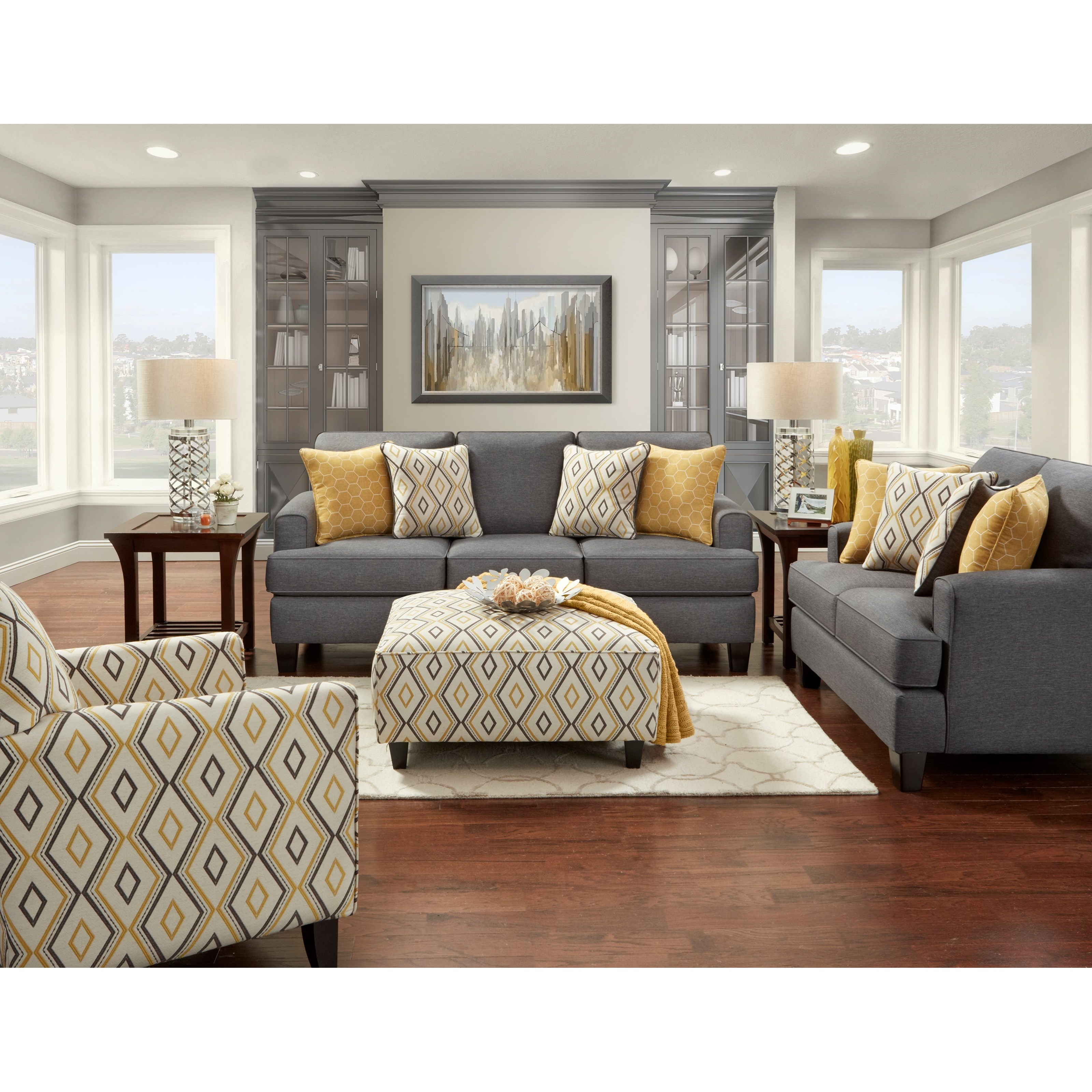 2600 Stationary Living Room Group by Fusion Furniture at Prime Brothers Furniture