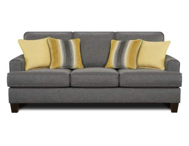 Fusion Furniture 2600 Maxwell Gray Maxwell Gray Sofa - Item Number: 2600