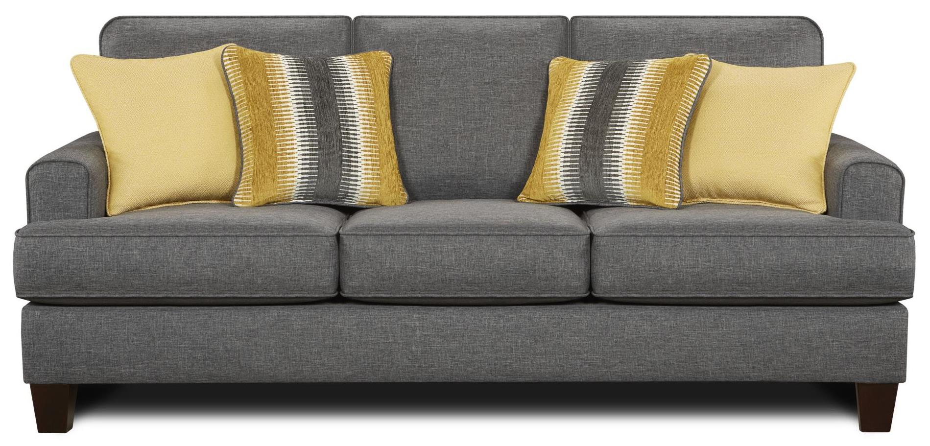 Fusion Furniture 2600 Sofa - Item Number: 2600Maxwell Gray