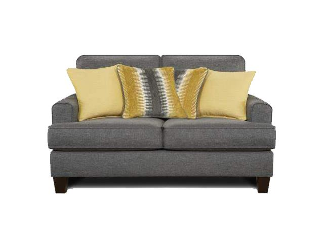 Fusion Furniture Maxwell Gray Maxwell Gray Loveseat - Item Number: 2601