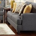 Fusion Furniture 2600 Loveseat - Item Number: 2601Maxwell Gray Dijon