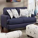Fusion Furniture 2600 Loveseat - Item Number: 2601Stoked Cadet