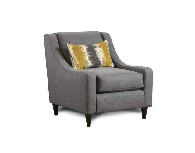 Fusion Furniture 2600 Maxwell Gray Maxwell Gray Accent Chair - Item Number: 592-KP
